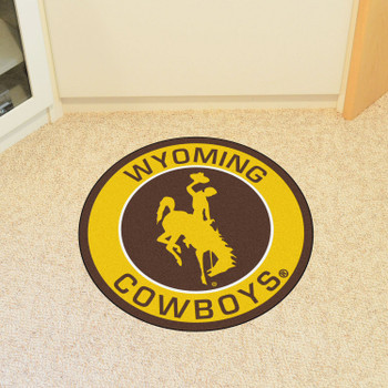 "27"" University of Wyoming Roundel Round Mat"