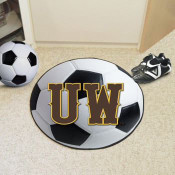 "27"" University of Wyoming Soccer Ball Round Mat"