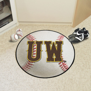 "27"" University of Wyoming Baseball Style Round Mat"