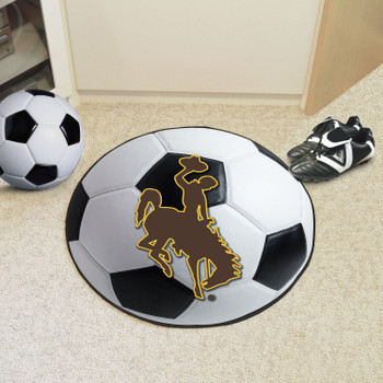 "27"" University of Wyoming Cowboys Soccer Ball Round Mat"