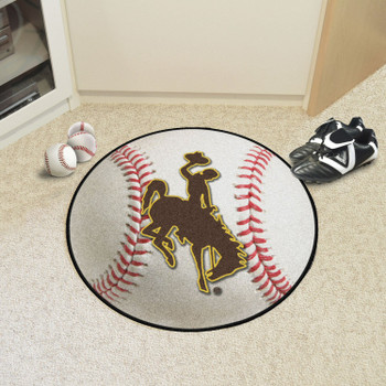 "27"" University of Wyoming Cowboys Baseball Style Round Mat"
