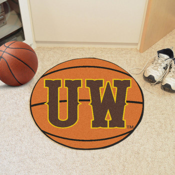 "27"" University of Wyoming Orange Basketball Style Round Mat"
