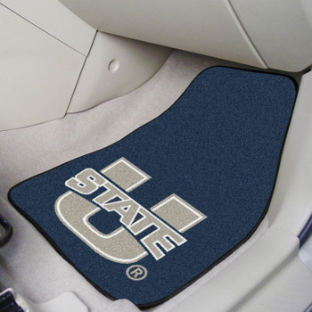Utah State University Carpet Car Mat, Set of 2
