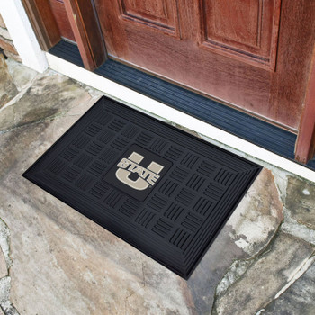 "19.5"" x 31.25"" Utah State University Medallion Rectangle Door Mat"