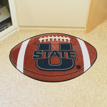 "20.5"" x 32.5"" Utah State University Football Shape Mat"