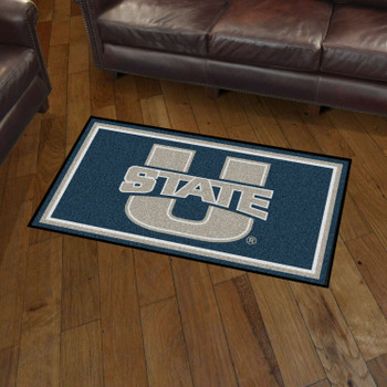 3' x 5' Utah State University Navy Blue Rectangle Rug