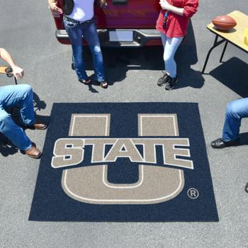 "59.5"" x 71"" Utah State University Navy Blue Tailgater Mat"