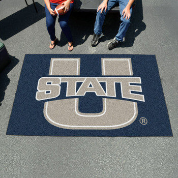 "59.5"" x 94.5"" Utah State University Navy Blue Rectangle Ulti Mat"
