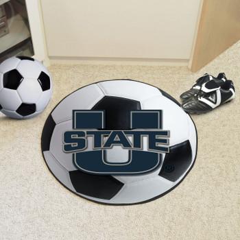 "27"" Utah State University Soccer Ball Round Mat"