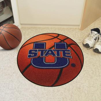 "27"" Utah State University Basketball Style Round Mat"