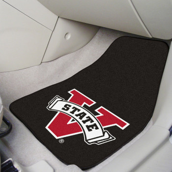 Valdosta State University Black Carpet Car Mat, Set of 2