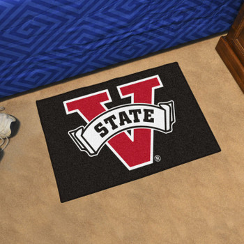 "19"" x 30"" Valdosta State University Black Rectangle Starter Mat"
