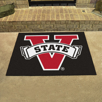 "33.75"" x 42.5"" Valdosta State University All Star Black Rectangle Mat"