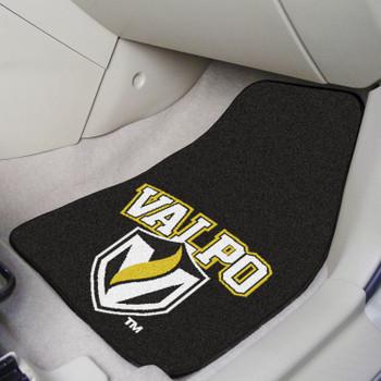 Valparaiso University Black Carpet Car Mat, Set of 2