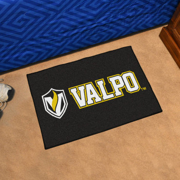 "19"" x 30"" Valparaiso University Black Rectangle Starter Mat"