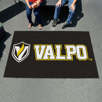 "59.5"" x 94.5"" Valparaiso University Black Rectangle Ulti Mat"