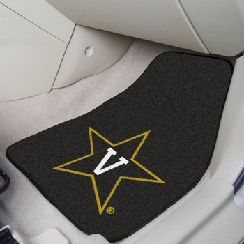 Vanderbilt University Black Carpet Car Mat, Set of 2