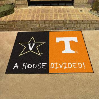 "33.75"" x 42.5"" Vanderbilt / Tennessee House Divided Rectangle Mat"