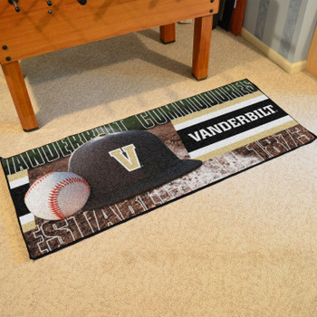 "30"" x 72"" Vanderbilt Baseball Style Rectangle Runner Mat"