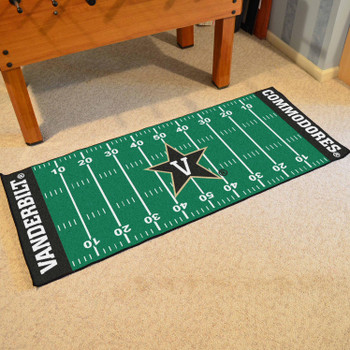 "30"" x 72"" Vanderbilt University Football Field Rectangle Runner Mat"