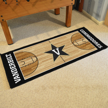 "30"" x 72"" Vanderbilt University NCAA Basketball Rectangle Runner Mat"