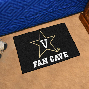Vanderbilt University Fan Cave Starter Black Rectangle Mat