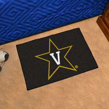 "19"" x 30"" Vanderbilt University Black Rectangle Starter Mat"
