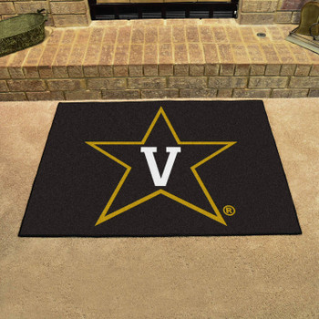 "33.75"" x 42.5"" Vanderbilt University All Star Black Rectangle Mat"