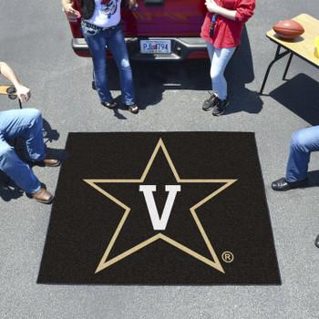 "59.5"" x 71"" Vanderbilt University Black Tailgater Mat"