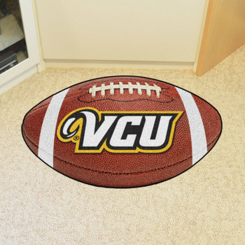 "20.5"" x 32.5"" Virginia Commonwealth University Football Shape Mat"
