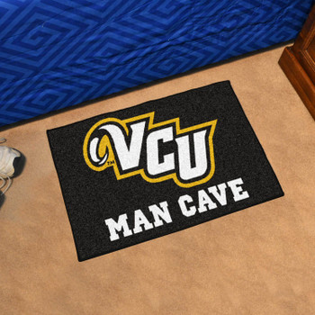 "19"" x 30"" Virginia Commonwealth University Man Cave Starter Black Rectangle Mat"