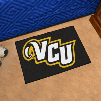 "19"" x 30"" Virginia Commonwealth University Black Rectangle Starter Mat"