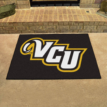 "33.75"" x 42.5"" Virginia Commonwealth University All Star Black Rectangle Mat"