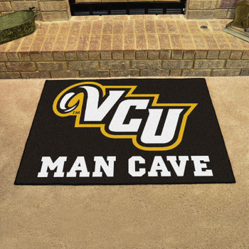 "33.75"" x 42.5"" Virginia Commonwealth University Man Cave All-Star Black Rectangle Mat"