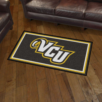 3' x 5' Virginia Commonwealth University Black Rectangle Rug