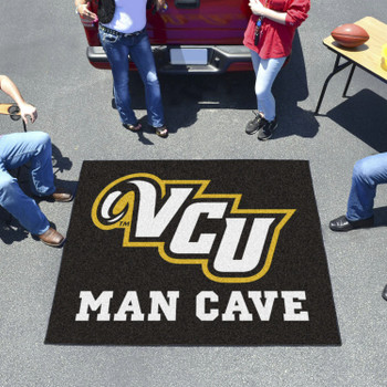 "59.5"" x 71"" Virginia Commonwealth University Man Cave Tailgater Black Rectangle Mat"