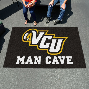 "59.5"" x 94.5"" Virginia Commonwealth University Man Cave Black Rectangle Ulti Mat"