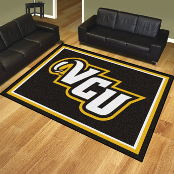 8' x 10' Virginia Commonwealth University Black Rectangle Rug