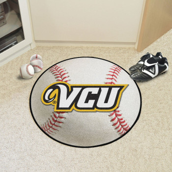 "27"" Virginia Commonwealth University Baseball Style Round Mat"