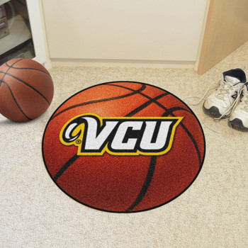 "27"" Virginia Commonwealth University Basketball Style Round Mat"