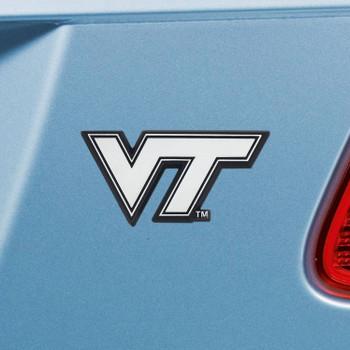Virginia Tech Chrome Emblem, Set of 2