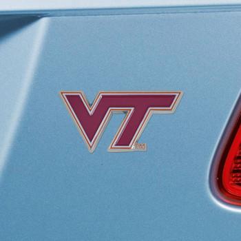 Virginia Tech Maroon Color Emblem, Set of 2