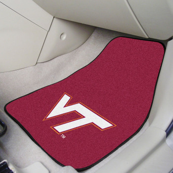 Virginia Tech Maroon Carpet Car Mat, Set of 2