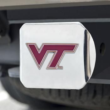 Virginia Tech Color Hitch Cover - Chrome