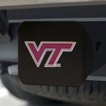 Virginia Tech Hitch Cover - Color on Black