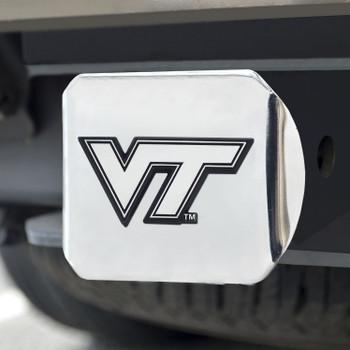 Virginia Tech Hitch Cover - Chrome on Chrome