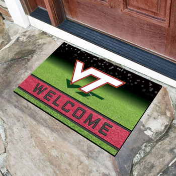 "18"" x 30"" Virginia Tech Crumb Rubber Door Mat"