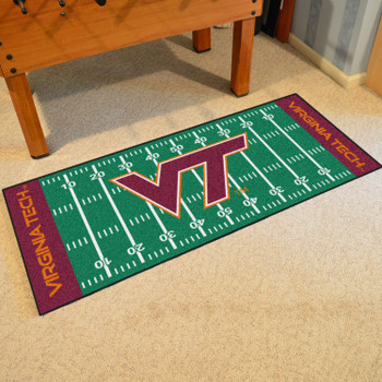 "30"" x 72"" Virginia Tech Football Field Rectangle Runner Mat"