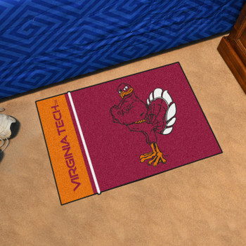 "19"" x 30"" Virginia Tech Maroon Rectangle Starter Mat"