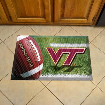 """19"""" x 30"""" Virginia Tech Rectangle Scraper Mat - """"VT"""" Logo"""